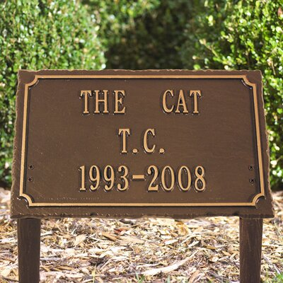 Whitehall Products Pet Memorial Lawn Plaque