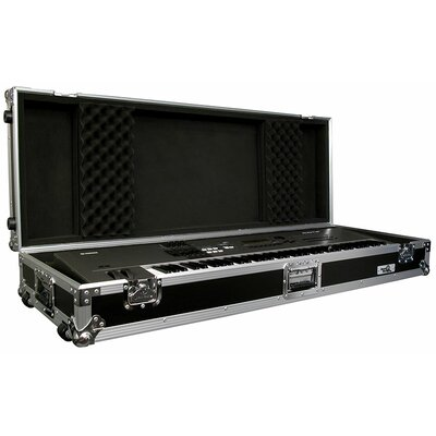 Road Ready Cases 76 Keyboard Case with Z-Lock Foam with Wheels