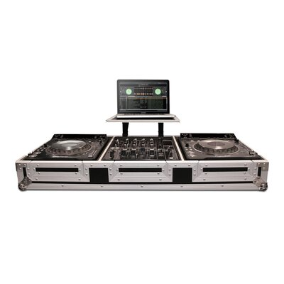 Road Ready Cases DJ Coffin for 2 X Pioneer CDJ2000 / DVJ1000 CD Players Plus Mixer with Wheels