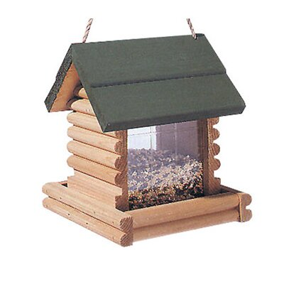 North States 2.75 Lb Capacity Hanging Log Cabin Bird Feeder