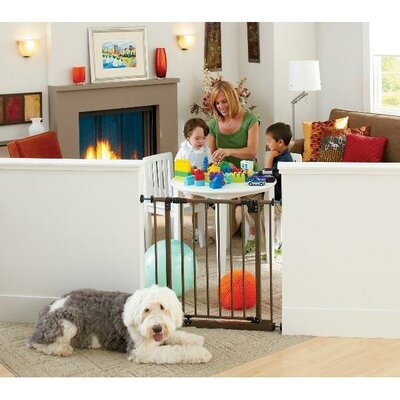 North States Extra Tall Deluxe Easy Close Metal Gate with 2 Extensions