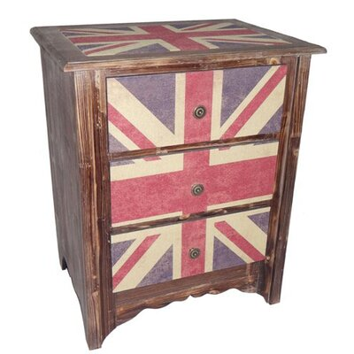 Union Jack 3 Drawer Cabinet