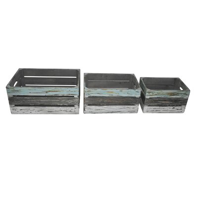 Cheungs Rectangular Multicolor Crate (Set of 3)