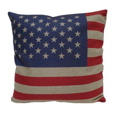 US Flag Linen Pillow