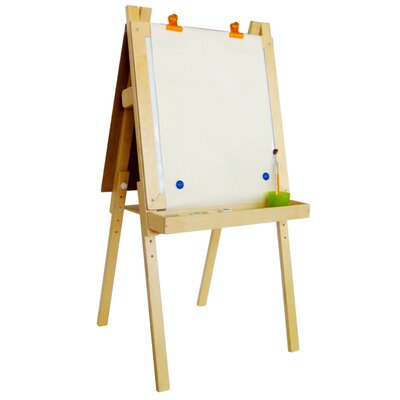 A+ Child Supply Economy Magnetic Easel with Black / Dry Erase Board