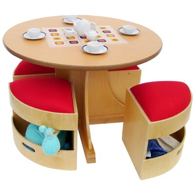 A+ Child Supply Kids' 5 Piece Table and Stools Set