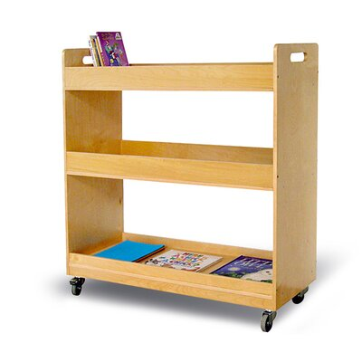 "A+ Child Supply Flat Library 41.3"" Book Cart"
