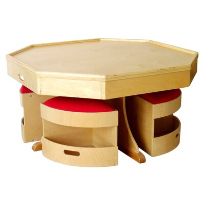 A+ Child Supply Kids 5 Piece Table and Stool Set
