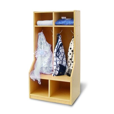 A+ Child Supply Toddler 2-Section Coat Locker