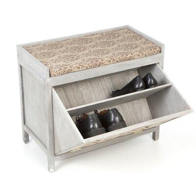 Shoe storage wayfair Rattan storage bench