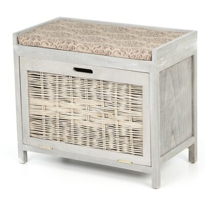 Paoli Rattan Shoe Storage Bench
