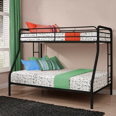 DHP Twin over Full Bunk Bed with Built-In Ladder