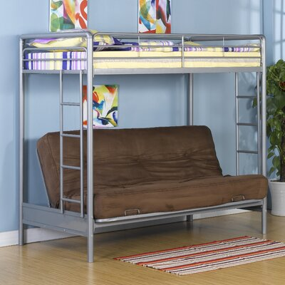 Dorel Home Products Twin over Futon Low Loft Bed with Built-In Ladder