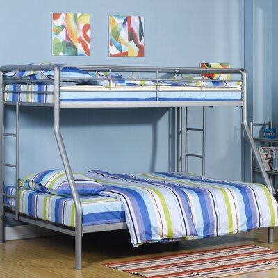 Dorel Home Products Twin over Full Bunk Bed with Built-In Ladder