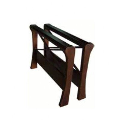 DHP Metal Futon with Cherry X-Wood Arms