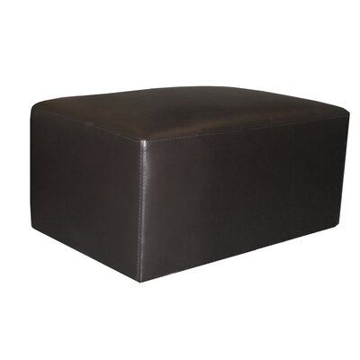 World Class Furniture Brevia Leather Ottoman