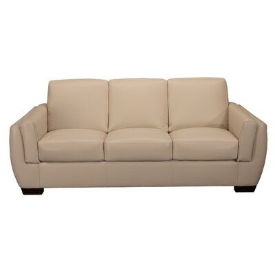 World Class Furniture Monroe Leather Sofa