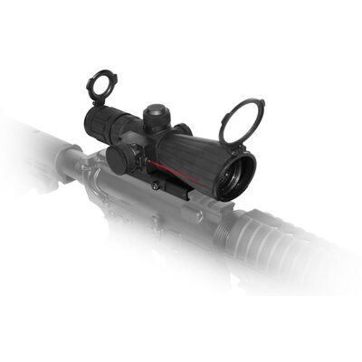 3-9x42 mm P4 Sniper Rubber Compact Scope in Matte Black