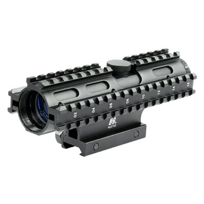 4x32 Compact Scope 3 Rail Sighting System / Rangefinder / Weaver Mount / in Blue ...