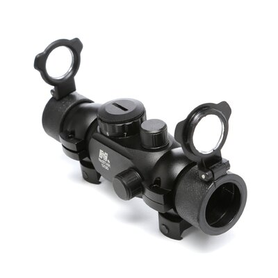 NcSTAR 1x30 T-Style Red Dot Sight with Weaver Ring in Black