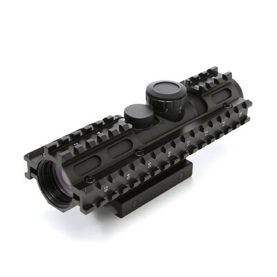 2-7x32 Compact Scope 3 Rail Sighting System / Blue Illuminated / Rangefinder / in Green ...