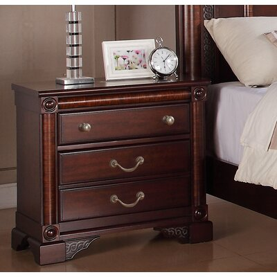 Greystone Ramsey 3 Drawer Nightstand