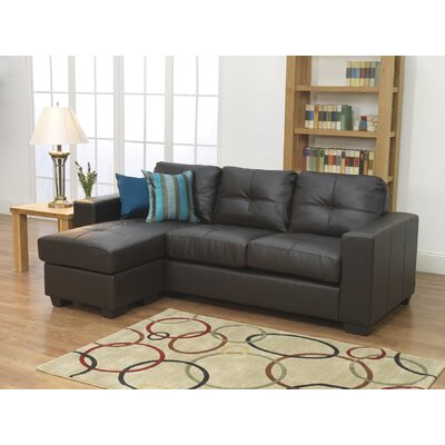 Furniture Link Gemona 3 Seater L Sofa in Brown
