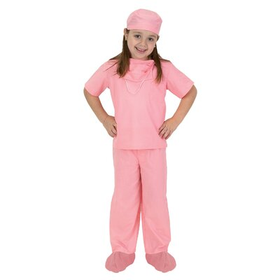 Jr. Dr. Scrubs Costume in Pink