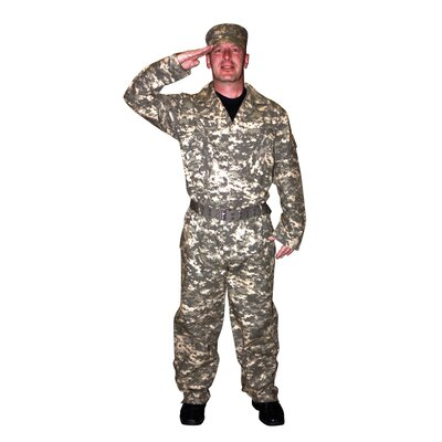Adult Camouflage Suit with Cap and Belt