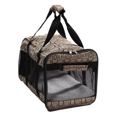 Airline Approved 'Ultra-Comfort' Designer Dog Carrier in Plaid Design