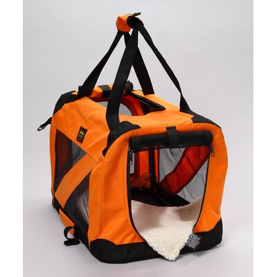 Pet Life Zippered 360° Vista View Pet Carrier in Orange