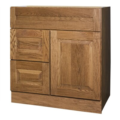 "Coastal Collection Amalfi Series 30"" Red Oak Bathroom Vanity Base"