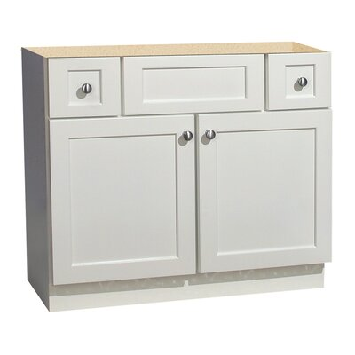 Coastal Collection Cape Cod Series 36&quot; x 18&quot; Maple Bathroom Vanity in White Finish