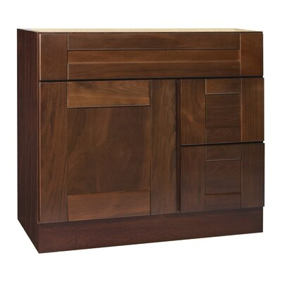 "Coastal Collection Georgetown Series 36"" Black Walnut Bathroom Vanity Base"