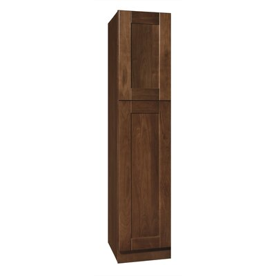 "Coastal Collection Georgetown Series 84"" x 24"" x 18"" Black Walnut Tall Linen Cabinet in Chestnut Finish"