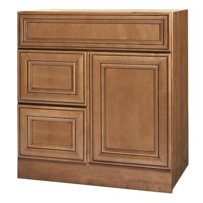 "Coastal Collection Heritage Series 30"" x 21"" Maple Bathroom Vanity in Ginger Glaze Finish"