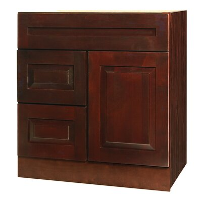 "Coastal Collection Vintage Series 30"" Maple Bathroom Vanity Base"