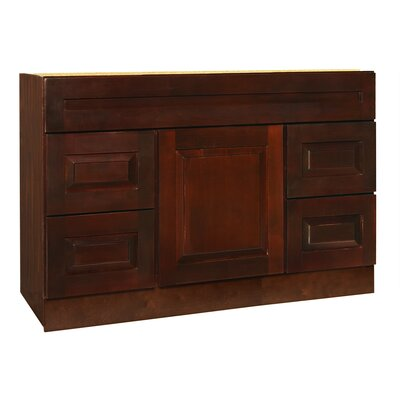 "Coastal Collection Vintage Series 48"" Maple Bathroom Vanity Base"