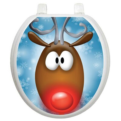 Toilet Tattoos Holiday Reindeer Toilet Seat Decal