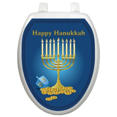 Toilet Tattoos Holiday Menorah Toilet Seat Decal