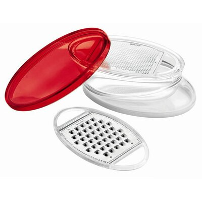 "Guzzini Latina 8"" x 5"" Multi Blade Grater in Red"
