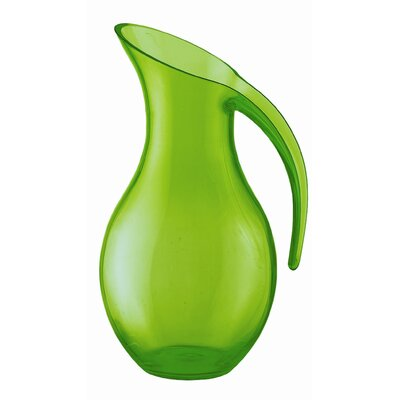 "Guzzini Happy Hour 10.5"" Blown Jug in Green"