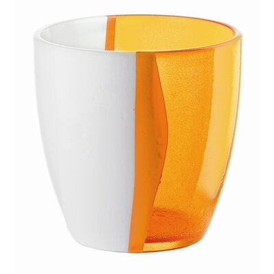 Guzzini Happy Hour Two Toned Water Glass in Orange