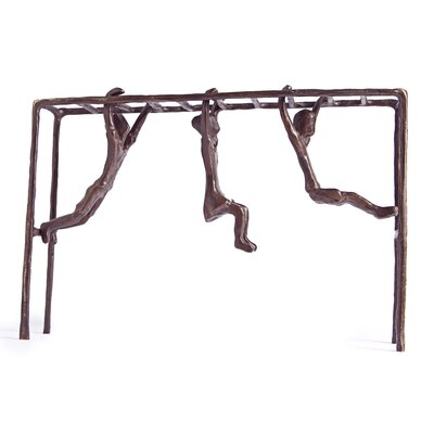 Danya B Children on Monkey Bar Figure Figurine