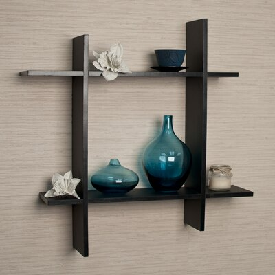 DanyaB Asymmetric Laminate Square Floating Wall Shelf
