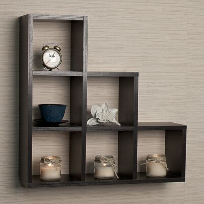 DanyaB Stepped 6 Cubby Decorative Wall Shelf