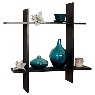 danyab asymmetric floating wall shelf reviews wayfair. Black Bedroom Furniture Sets. Home Design Ideas