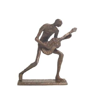 Danya B Guitar Player Crouching in Cast Bronze