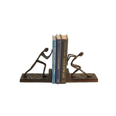 Danya B Men Pushing Bookend in Cast Aluminum