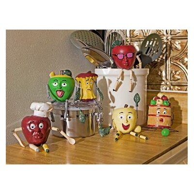 Danya B 6 Piece Apple People Kitchen Figurine Set